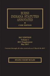 Burns Indiana Statutes Annotated Court Rules cover