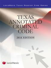 Texas Annotated Criminal Code cover
