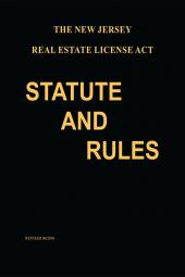 The New Jersey Real Estate License Act: Statute and Rules cover