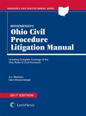 Weissenberger's Ohio Civil Procedure Litigation Manual cover