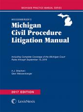 Weissenberger's Michigan Civil Procedure Litigation Manual cover