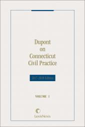 Dupont on Connecticut Civil Practice cover