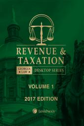 Georgia Revenue and Tax Law cover
