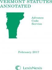 Vermont Statutes Annotated Advance Code Service cover