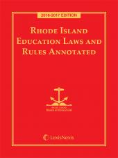 Rhode Island Education Laws and Rules Annotated cover