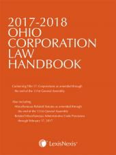 2017-2018 Ohio Corporation Law Handbook cover