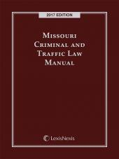 Missouri Criminal and Traffic Law Manual cover