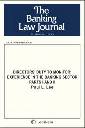 Directors' Duty to Monitor: Experience in the Banking Sector cover