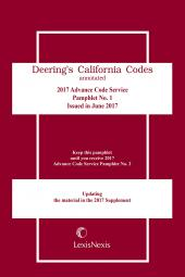 California Deering's Advance Code Service cover