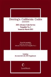Deering's California Codes Annotated: Advance Code Service cover