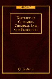 District of Columbia Criminal Law and Procedure Annotated cover