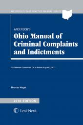 Anderson's Ohio Manual of Criminal Complaints and Indictments cover