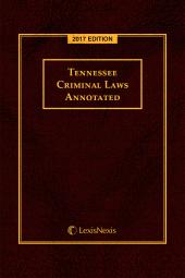 Tennessee Criminal Laws Annotated cover