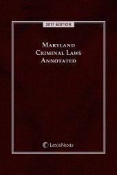Maryland Criminal Laws Annotated cover