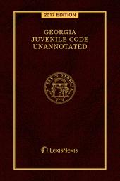 Georgia Juvenile Code Unannotated cover