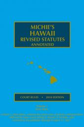 Hawaii Court Rules Annotated cover