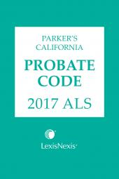Parker's California Probate Code ALS cover