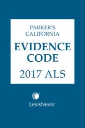 Parker's California Evidence Code ALS cover