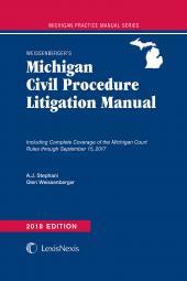 Weissenberger's Michigan Civil Procedure Litigation Manual cover