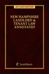 New Hampshire Landlord and Tenant Law Annotated cover