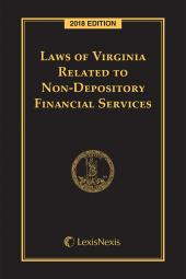 Laws of Virginia Related to Non-Depository Financial Services cover