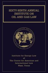 Institute on Oil and Gas Law with Index Volume cover