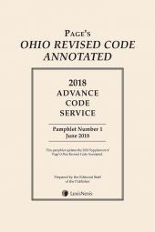 Page's Ohio Revised Code Annotated: Advance Code Service cover