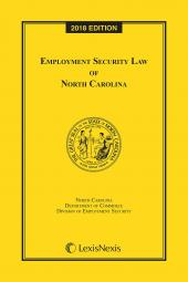 Employment Security Law of North Carolina cover