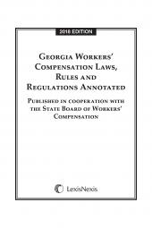 Georgia Workers' Compensation Laws, Rules & Regulations Annotated cover