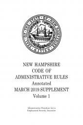 New Hampshire Code of Administrative Rules Annotated cover