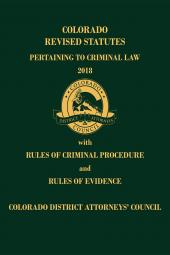 Colorado Revised Statutes Pertaining to Criminal Law cover