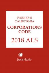 Parker's California Corporations Code ALS cover