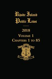 Rhode Island Public Laws cover