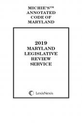 Maryland Legislative Review Service cover