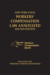 New York State Workers' Compensation Law Annotated cover