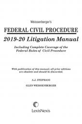 Weissenberger's Federal Civil Procedure Litigation Manual cover