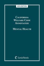 California Welfare Code Annotated: Mental Health cover
