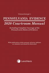 Pennsylvania Evidence Courtroom Manual cover