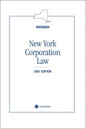 New York Corporation Law (Whitebook) cover