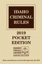 Idaho Criminal Rules cover