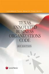 Texas Annotated Business Organizations Code cover