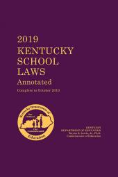 Kentucky School Laws Annotated cover