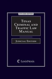 Texas Criminal and Traffic Law Manual Judicial Edition cover
