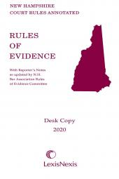 New Hampshire Rules of Evidence Desk Copy cover
