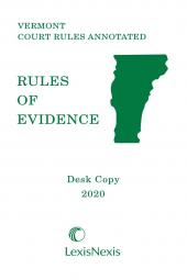 Vermont Rules of Evidence: Desk Copy cover