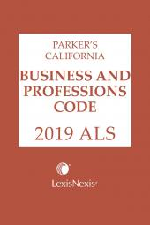 Parker's California Business and Professions Code ALS cover