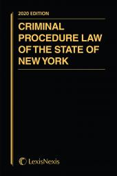 Criminal Procedure Law of the State of New York cover