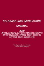 Colorado Jury Instructions Criminal cover