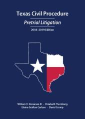 Texas Civil Procedure: Pretrial Litigation cover