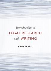 Introduction to Legal Research and Writing cover